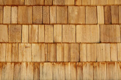 Wooden tiles. Wall made of wooden tiles Royalty Free Stock Photo