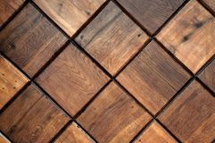 Wooden tiles background Royalty Free Stock Photography