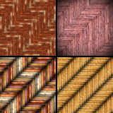 Wooden tiles backgrounds. Collection of different wooden tiles backgrounds, colorful patterns for your design Stock Image