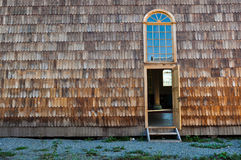 Wooden Tiles Chiloé's unique design, Chiloé Island, Chile Royalty Free Stock Images
