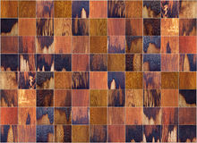 Wooden tiles. High detail shot of a wooden cutting board Stock Images