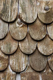 Wooden tiles on the roof of house Royalty Free Stock Images
