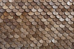 Wooden tiles. (thatch), close-up Royalty Free Stock Image