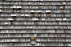Wooden Tiling. On a house wall in Newport, Rhode Island Stock Photos