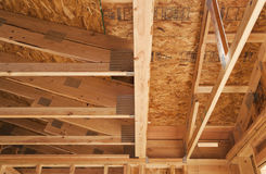 Wooden or timber ceiling Stock Photography