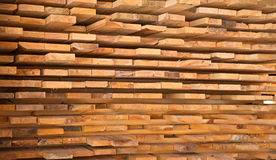 Wooden timber at a sawmill Royalty Free Stock Image