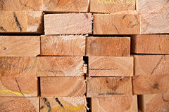 Wooden timber at a sawmill Royalty Free Stock Photography