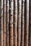 Wooden timber wall of old house Stock Images