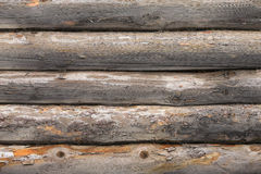 Wooden timbered wall Stock Photo