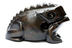 Wooden toad Stock Photography