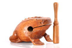 Wooden toad rhythm percusion instrument Stock Images