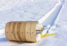 Wooden Toboggan Royalty Free Stock Photos