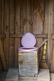 Wooden  toilet Royalty Free Stock Photos