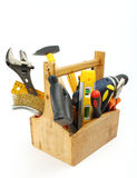 Wooden tool box royalty free stock photography