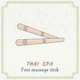 Wooden Tool For Thai Massage. Royalty Free Stock Photos