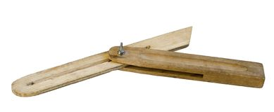 Wooden tool for measuring angles Royalty Free Stock Images