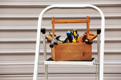 A wooden toolbox Royalty Free Stock Photos