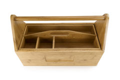 Wooden toolbox with tools Stock Images