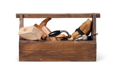 Wooden toolbox Stock Photography