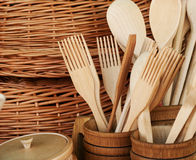 Wooden tools Stock Image