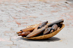 Wooden tools for kitchen Stock Images
