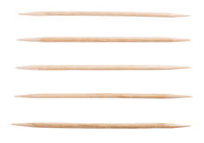 Wooden toothpick isolated Stock Photography