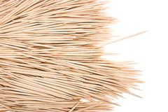 Wooden toothpicks Stock Photo