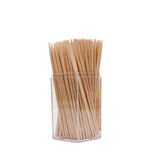 Wooden toothpicks in a box Stock Photos
