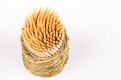 Wooden toothpicks Royalty Free Stock Photos