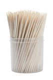 Wooden toothpicks isolated Royalty Free Stock Image