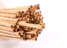 Wooden toothpicks Royalty Free Stock Images