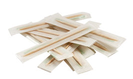 Wooden toothpicks in a package Stock Photography