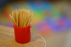 Wooden toothpicks Stock Images