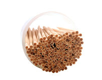 Wooden toothpicks Stock Image