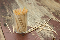 Wooden Toothpicks Stock Photos