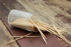 Wooden Toothpicks Royalty Free Stock Photo