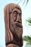 Wooden totem Royalty Free Stock Image