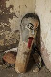 Wooden totem from Jaipur, India Stock Image