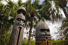 Wooden totems Royalty Free Stock Images
