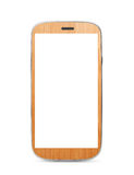 Wooden touch screen mobile Royalty Free Stock Photo