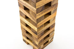 Wooden Tower Block Game Stock Images