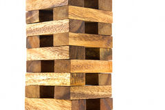 Wooden tower block game Royalty Free Stock Photo