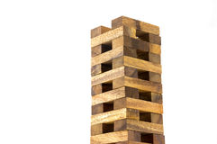 Wooden tower block game Royalty Free Stock Photos