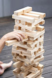Wooden tower game Royalty Free Stock Image