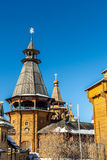 The wooden tower of the Izmailovo Kremlin. Moscow Stock Images