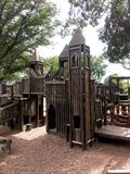 Wooden Tower Play Station Park Royalty Free Stock Photo