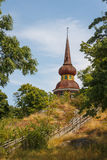 Wooden tower in Skansen, Stockholm Royalty Free Stock Images