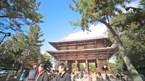 The wooden tower of To-ji Temple in Nara Japan Stock Photography