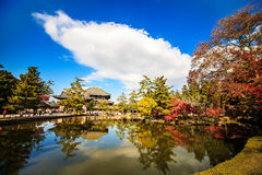 The wooden tower of To-ji Temple in Nara Japan is the largest te Stock Images