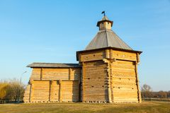 Wooden tower and the wall Stock Photo